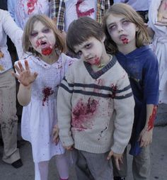 To zombie or not to zombie. That is the question faced by many Halloween revelers as the holiday approaches. The obvious choice is to go zombie or go Zombie Walk, Zombie Kid, Zombie Party, Zombie Movies, Zombie Halloween Costumes, Halloween 2014, Halloween Kids, Boy Zombie Costume, Zombies