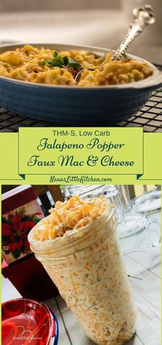 Jalapeno Popper Faux Mac & Cheese Trim Healthy Mama Recipes, Sugar Free Recipes, Gluten Free Recipes, Low Carb, Keto via 8 Easy Keto Diet Friendly Side Dish Ideas Sugar Free Recipes, Side Dish Recipes, Low Carb Recipes, Real Food Recipes, Healthy Recipes, Oven Recipes, Cream Recipes, Easy Recipes, Dinner Recipes