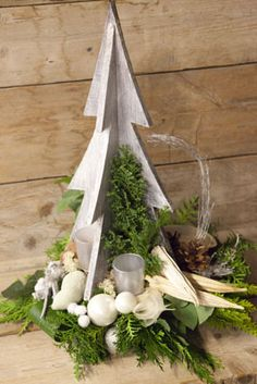 Christmas Tree - Christmas floral art workshop - Christa Snoek