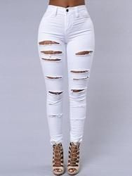 EricDress - EricDress Ericdress Fashion Slim Ripped Jeans - AdoreWe.com