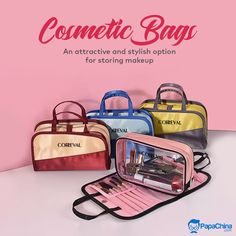 An attractive and stylish option for storing makeup. #cosmeticbags #bags #toiletrybags #makeupbag #wholesale #PROMO #Marketing #advertisement #promotion #Giveaway #Trending #gift #branding Promotional Bags, Promotional Giveaways, Picnic Bag, Wholesale Bags, Luggage Bags, Cosmetic Bag, Branding, Cosmetics, Marketing