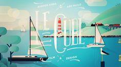 Sur la côte d'azur by Le Cube, via Behance