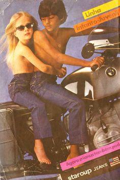 Jeans Staroup (1980). Propaganda de uma época onde não existia o politicamente correto