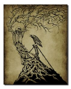 Evil Tree - Mens Other Accessories - Affliction Clothing Evil Tattoos, Spooky Tattoos, Tatoos, Dark Art Tattoo, Body Art Tattoos, Dead Tree Tattoo, Dark Tree, Tree Sketches, Scary Art