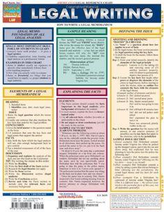 Legal Writing (Quickstudy: Law) by Inc. BarCharts,http://www.amazon.com/dp/1572224967/ref=cm_sw_r_pi_dp_ocIstb0JKAE6XYQH