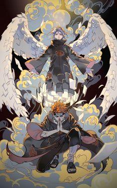 Akatsuki at the top - Naruto ~ DarksideAnime Naruto Shippuden Sasuke, Naruto Kakashi, Anime Naruto, Otaku Anime, Fan Art Naruto, Pain Naruto, Anime Akatsuki, Naruto Cute, Manga Anime