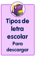 Recursos para descargar de Educación Infantil, tipo de letra escolar para descargar e instalar en el equipo