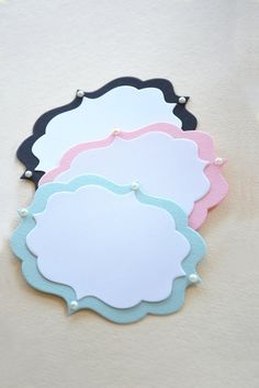 5 Shabby Chic Wedding Candy Buffet Labels - Birthday Candy Bar Labels - Set of 5 Labels -  Hootsie