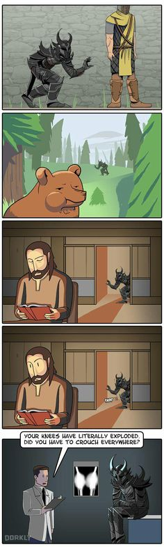 Why you should not crouch all the time in skyrim - 9GAG