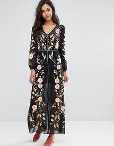 56189e8507d Miss Selfridge Embroidered Maxi Dress at asos.com