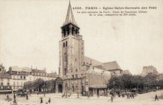La place et l'église Saint-Germain-des-Prés vers 1900.