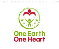 One Earth One Heart: Customized children, #daycare, #childcare, baby & kids #businesslogo design samples. Created by http://www.TheBusinessLogo.com  #BrandIdentityDesign #CorporateDesign #LogoDesign #FreeBusinessLogo