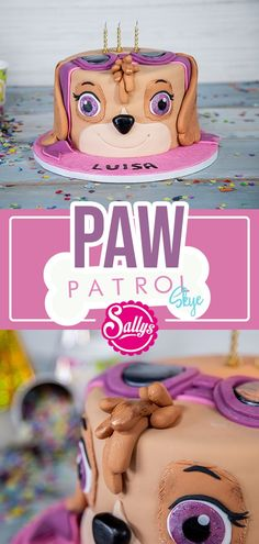 Geburtstagstorte Pah Patron I baked a Paw Patrol cake for our little friend Luisa and chose the character Skye here. The cake also provides inspiration for beginners. It is filled with a quark cream a Cheesecake Cupcakes, Birthday Cakes For Teens, Cakes For Boys, Fondant Cakes, Cupcake Cakes, Paw Patrol Torte, Skye Paw Patrol Cake, Cupcakes Decorados, Donut Decorations