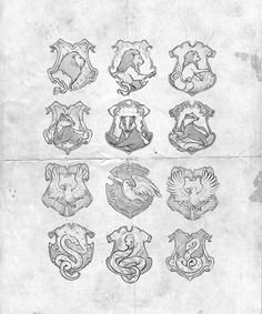 priorisincantatem:  The Hogwarts School of Witchcraft and Wizardry is divided into four houses, each bearing the last name of its founder: G...