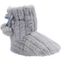F Pom pom fluffy slipper boots ($16) ❤ liked on Polyvore