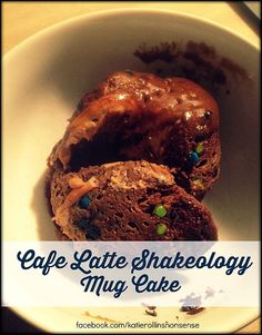 NEW Cafe Latte Shakeology Mug Cake!  OMG, this just changed my late night sweet tooth for life... and it's 21 Day Fix Approved! #amazing