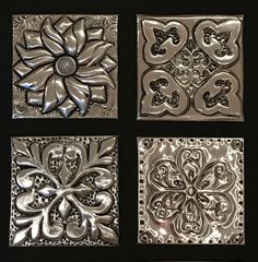 Metal Embossing Made EASY online course - Metal Art Tin Foil Art, Aluminum Foil Art, Aluminum Can Crafts, Tin Can Crafts, Tin Art, Aluminum Cans, Metal Crafts, Pewter Art, Pewter Metal