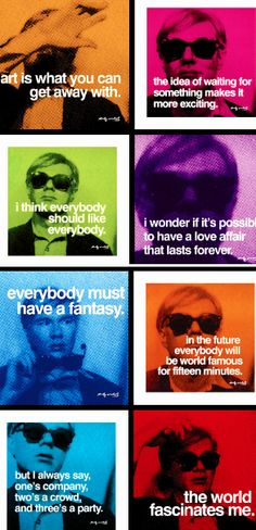 andy warhol, art, pop art, quotes