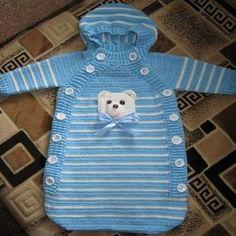 Yeni Doğan örgü Bebek Uyku Tulumu Resimli Yapim Aşamali Pictures Crochet Baby Pants, Crochet Baby Cocoon, Crochet Bebe, Baby Blanket Crochet, Knitted Baby, Baby Knitting Patterns, Knitting For Kids, Baby Bunting, Baby Blog
