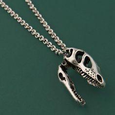 T-Rex skull on chain