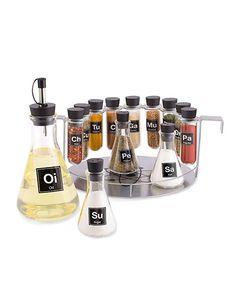Chemist's Spice Rack, 14 Piece Chemistry Spice Rack Set by Wink Best Spice Rack, Spice Set, Spice Racks, Test Tube Spice Rack, Chemistry Gifts, Retro Kitchen Accessories, Erlenmeyer Flask, Kitchen Chemistry, Canned Food Storage