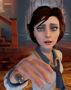 "BioShock Infinite- Elizabeth- ""Are you real? Bioshock Tattoo, Bioshock Game, Bioshock Series, Video Game Art, Video Games, Bioshock Artwork, City Under The Sea, Bioshock Infinite Elizabeth, Unity 3d Games"