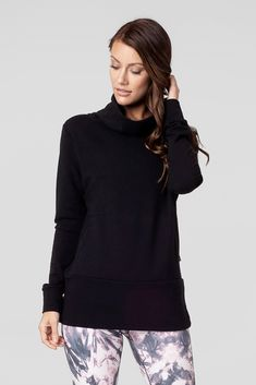 This hip length sweater has welt pockets at the midline - perfect for keeping you hands free. Spandex Fabric, Cotton Spandex, Welt Pocket, Vienna, Giveaway, Gray Color, Turtle Neck, Clothing, Sweaters