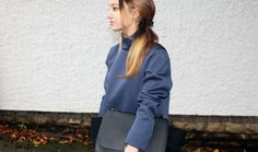 New Post on how I wore Zara Studio High Collar Top - New Posts on how I wore one of A/W's biggest trends - Navy - http://stylecredential.blogspot.co.uk/2013/10/im-wearing-zara-high-collar-studio-top.html #Fashion #Trend #A/W2013