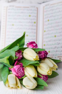 Bouquet of tulips with Quran by tanchy on @creativemarket