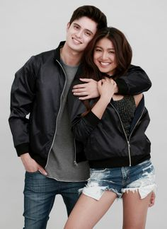 And look at this pic. Tell me that they look like each other already. Adidas Jacket, Bomber Jacket, James Reid, Nadine Lustre, Jadine, Partners In Crime, Just Friends, My Forever, Asian Boys