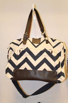 Nixon Chevron Overnight Bag   cable car couture image consulting     I may have a bag obsession... This is so cute though!