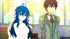 "This is from the anime ""Netoge no Yome wa Onnanoko ja Nai to Omotta?"" The couple in the picture is Hideki Nishimura and Ako Tamaki."
