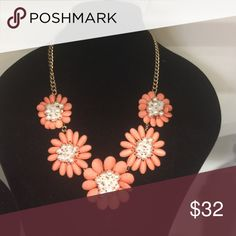 Necklace Brand new light orange necklace and earrings Jewelry Necklaces