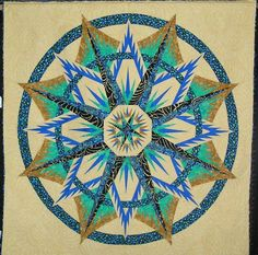 Mariner's Compass ~Quiltworx.com, made by CI Gwyn Campbell