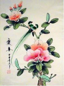 ΠΙΝΑΚΕΣ ΖΩΓΡΑΦΙΚΗΣ ΜΕ ΛΟΥΛΟΥΔΙΑ-Κινέζικη ζωγραφική
