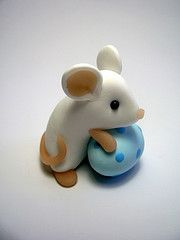 Easter Mouse - Blue Egg (QuernusCrafts) Tags: cute easter mouse pastel mice polymerclay easteregg quernuscrafts