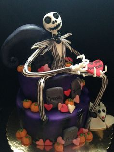 Nightmare before Christmas Valentines day cake