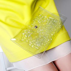 Clear clutch bag / transparent  clutch purse / clear by MeDusaBags