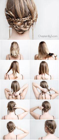 Haar Brötchen Für Lange Haare Für Casual-Moment