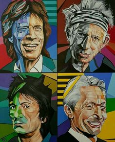 Rolling Stones Album Covers, Rolling Stones Logo, Keith Richards, Ronnie Wood Art, Scarface Poster, 60s Art, Ron Woods, Music Pictures, Rock Posters