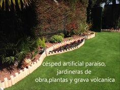 diseño de jardines con césped artificial #cespedartificial
