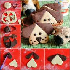 little puppy shortbread biscuits - biscuits and small pastries - . - little puppy shortbread biscuits – biscuits and small pastries – - Shortbread Biscuits, Cookies Et Biscuits, Biscotti Biscuits, Cute Cookies, Cupcake Cookies, Short Pastry, Shortcrust Pastry, Little Puppies, Pastry Recipes