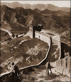 Greatwall China [1907] Herbert G. Ponting [RESTORED] by ralphrepo, via Flickr