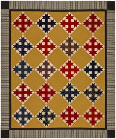 Parker's Crossing pattern by Red Crinoline Quilts.. Oh My another! Sooo good! Their booth is worth the show ticket price at HIQF.