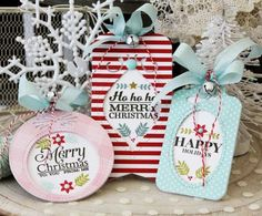 Window Works Christmas Tags by Melissa Phillips for Papertrey Ink (November 2017)