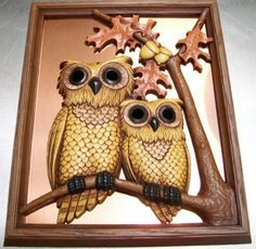 Vintage Copper Owl Wall Hanging Copperplate Guild | GreatDesign - Home Decor on ArtFire
