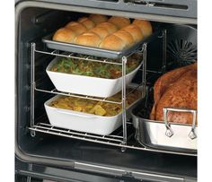Shop Nifty 3-Tier Oven Companion at CHEFS.  Can't decide if this would just make everything cook super slow...