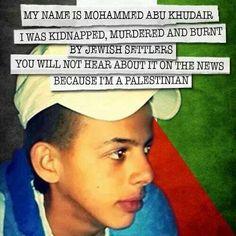 because I'm a Palestinian. ..