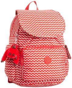 Kipling CITY PACK B K12147A90 Damen Rucksackhandtaschen 27x37x16 cm (B x H x T), Rot (Chevron Red Pr): Amazon.de: Koffer, Rucksäcke & Taschen
