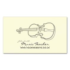 Musician/Music Teacher Business Card. This great business card design is available for customization. All text style, colors, sizes can be modified to fit your needs. Just click the image to learn more!
